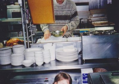 Owner Paul Kamakas and His Daughter Kristina Dinnerhorn Kitchen 1995