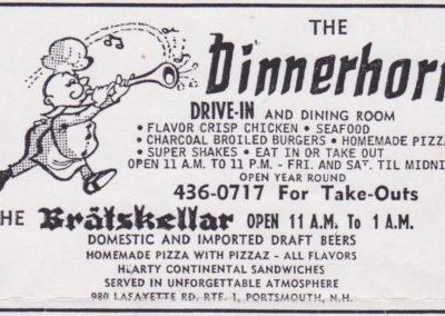 Dinnerhorn ad 1973